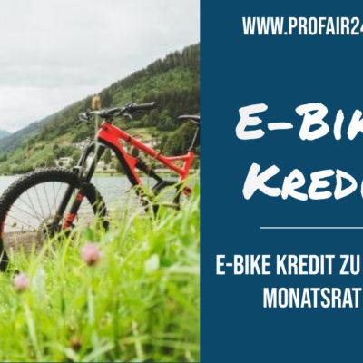 E-Bike Kredit