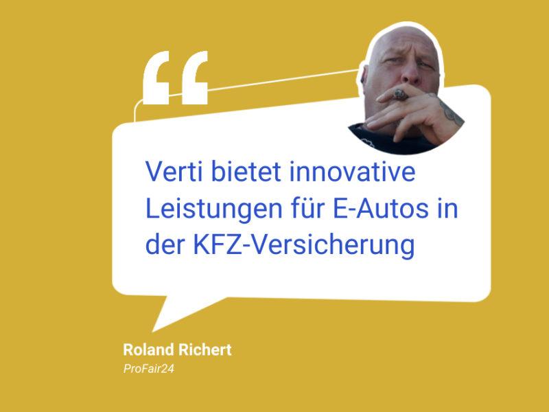 Versicherungstarif für Elektrofahrzeuge der Verti